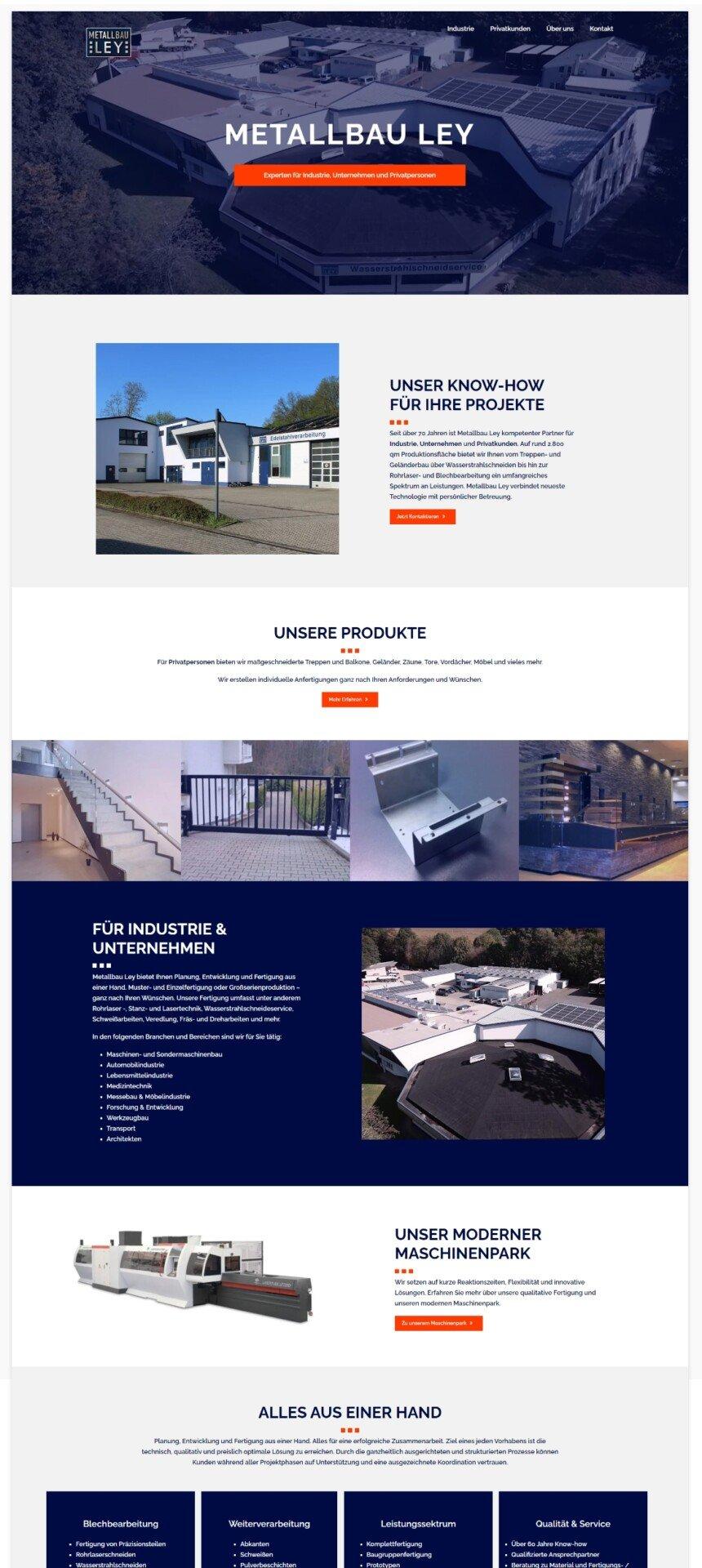 Metallbau Ley Webseitenscreenshot