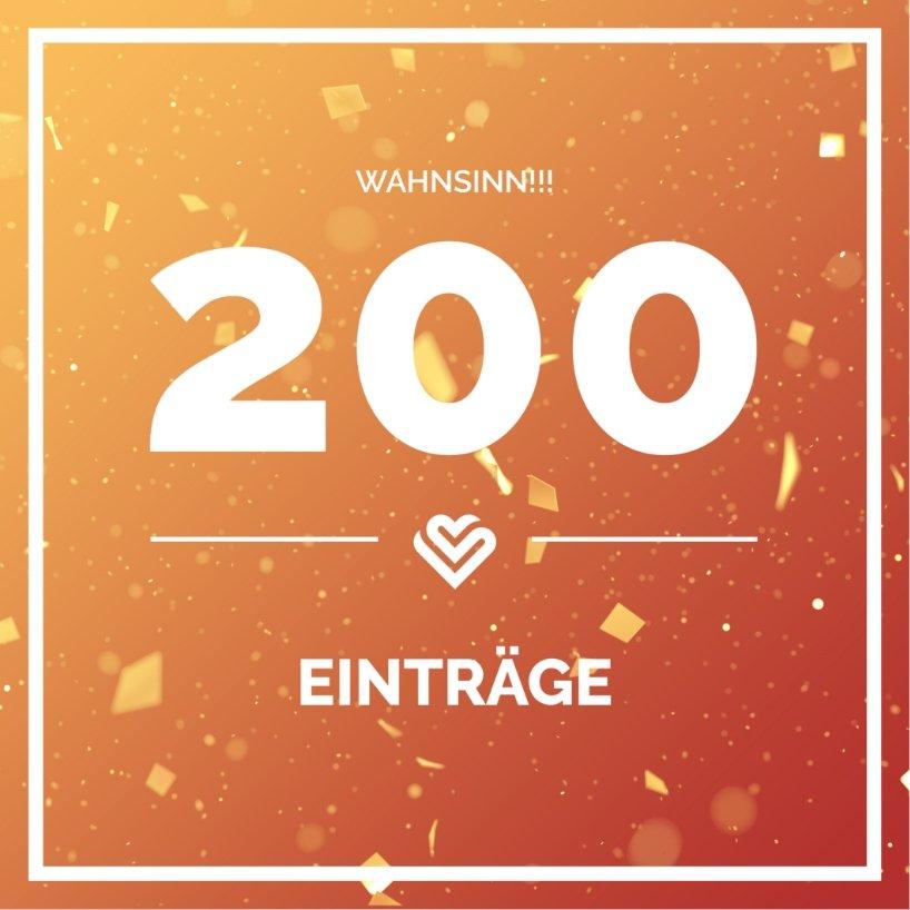 200 Einträge auf Zusammenhalt.gl