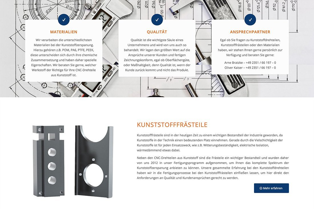 Projekte K&B Kunststoffdreherei