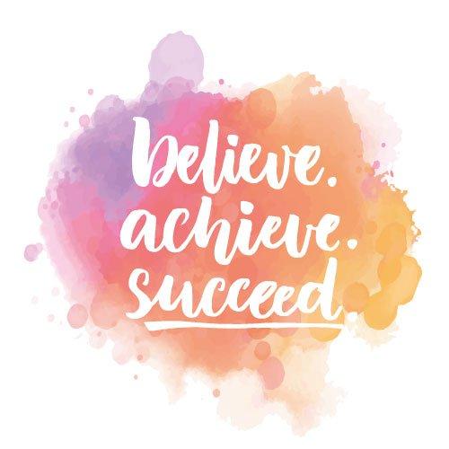 SEO Ziele erreichen! Believe Achieve Succeed