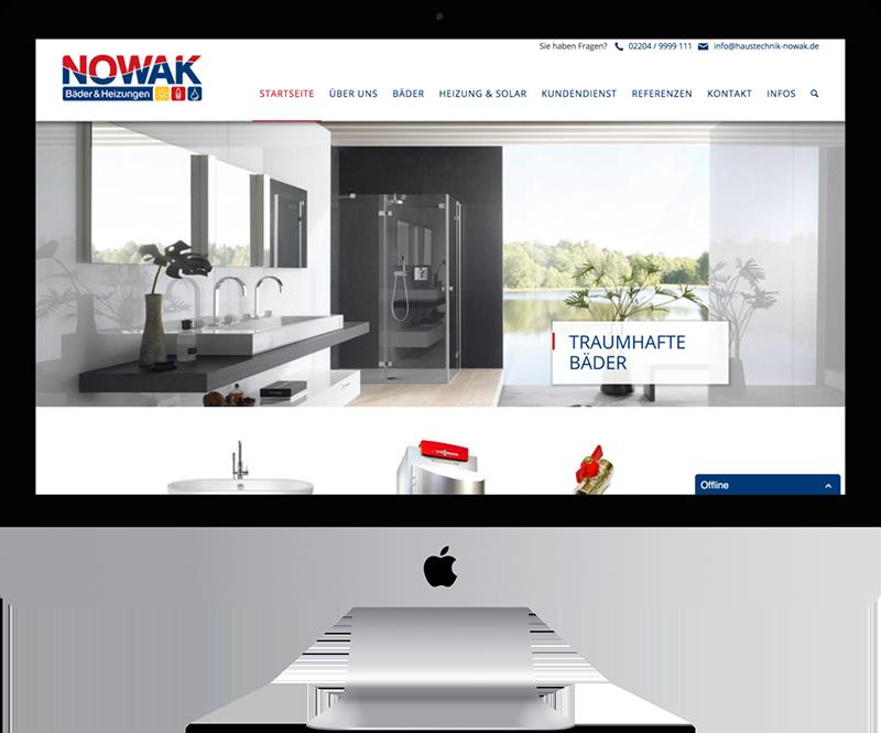 Nowak iMac Webdesign SHK