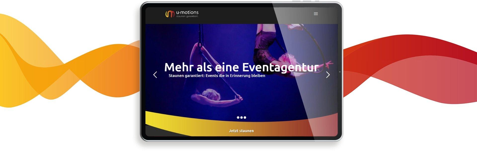 Tablet responsive Webdesign u-motions