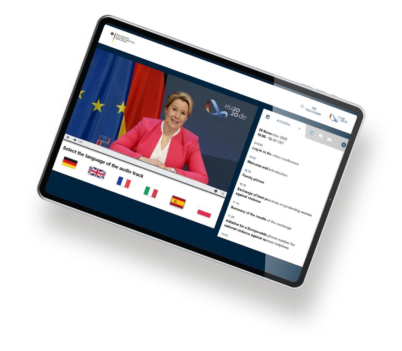 Tablet Streaming Portal