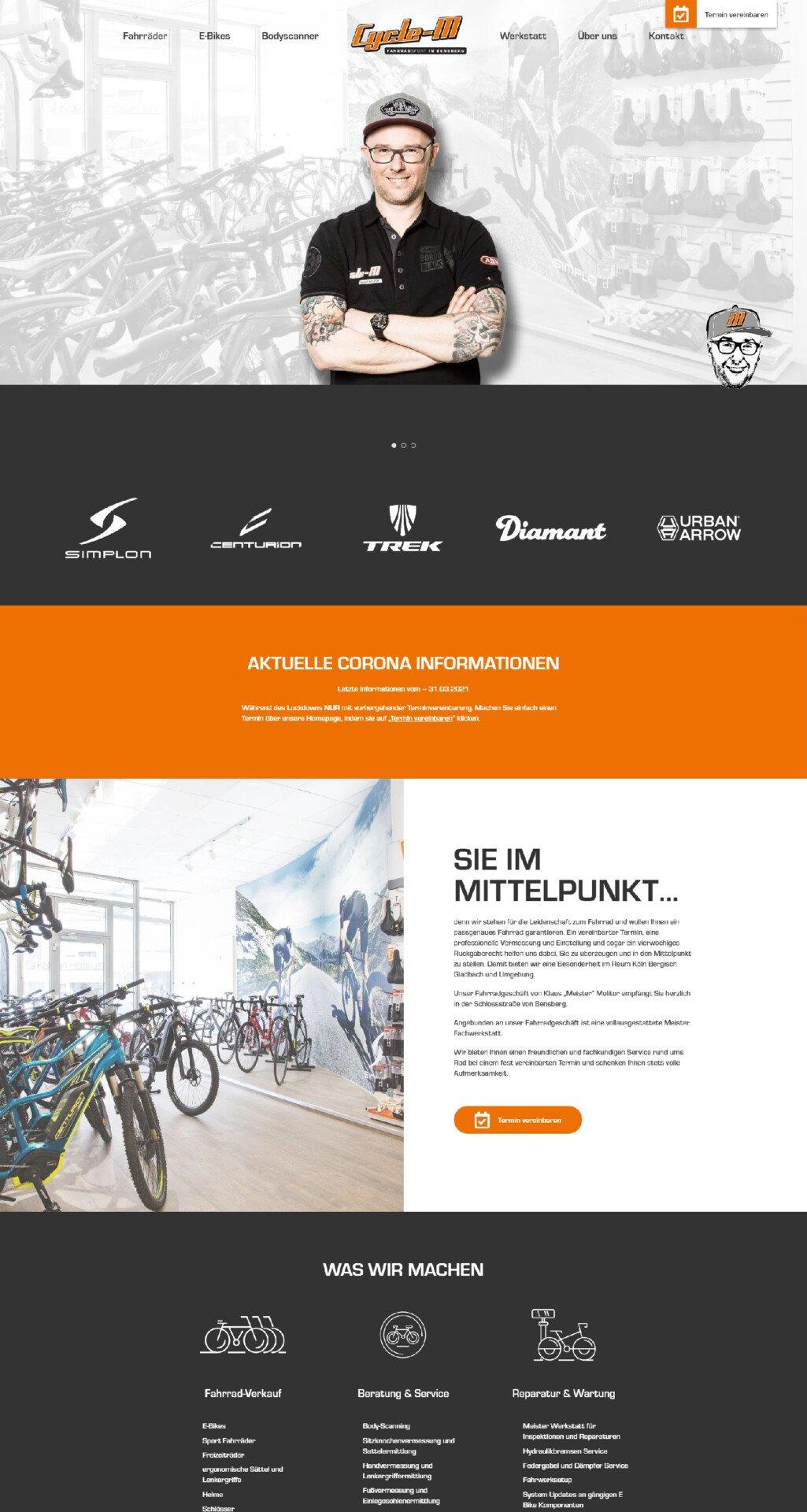 Webdesign Cycle-M