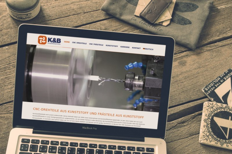 Webdesign Referenz KB Kunststoffdreherei