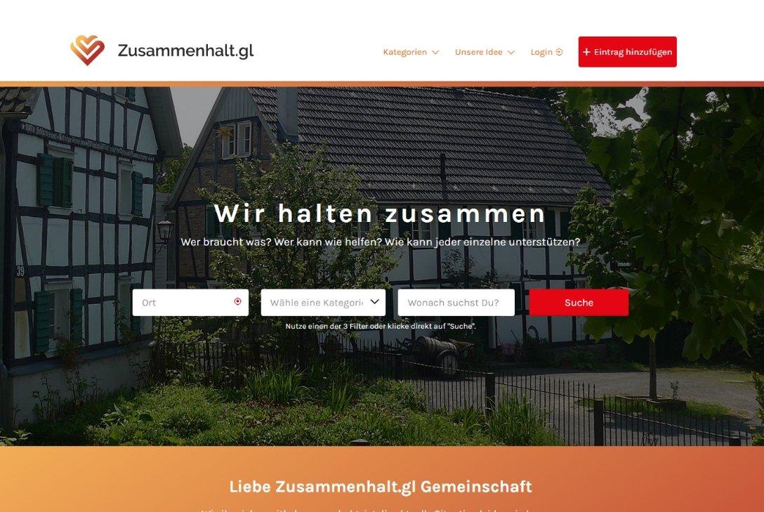 Startseite von Zusammenhalt.gl